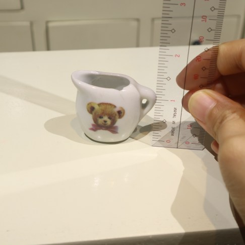 miniature teaset bear milk height