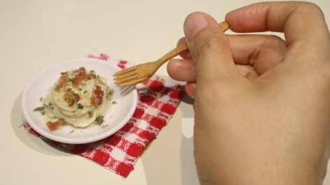 spag carbonara miniature edible