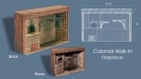 Colonial Walk-In Fireplace Stone [BPF1213] - $93.99 ...