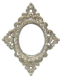 Diamond Shaped Picture Frame : diamond, shaped, picture, frame, Ornate, Diamond-Shaped, Frame, [ICM3123], .25, Miniature, Designs,, Service, Dollhouse, Georgia