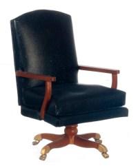 Johnson Oval Office Chair, Walnut [AZP6352] - $54.99 ...