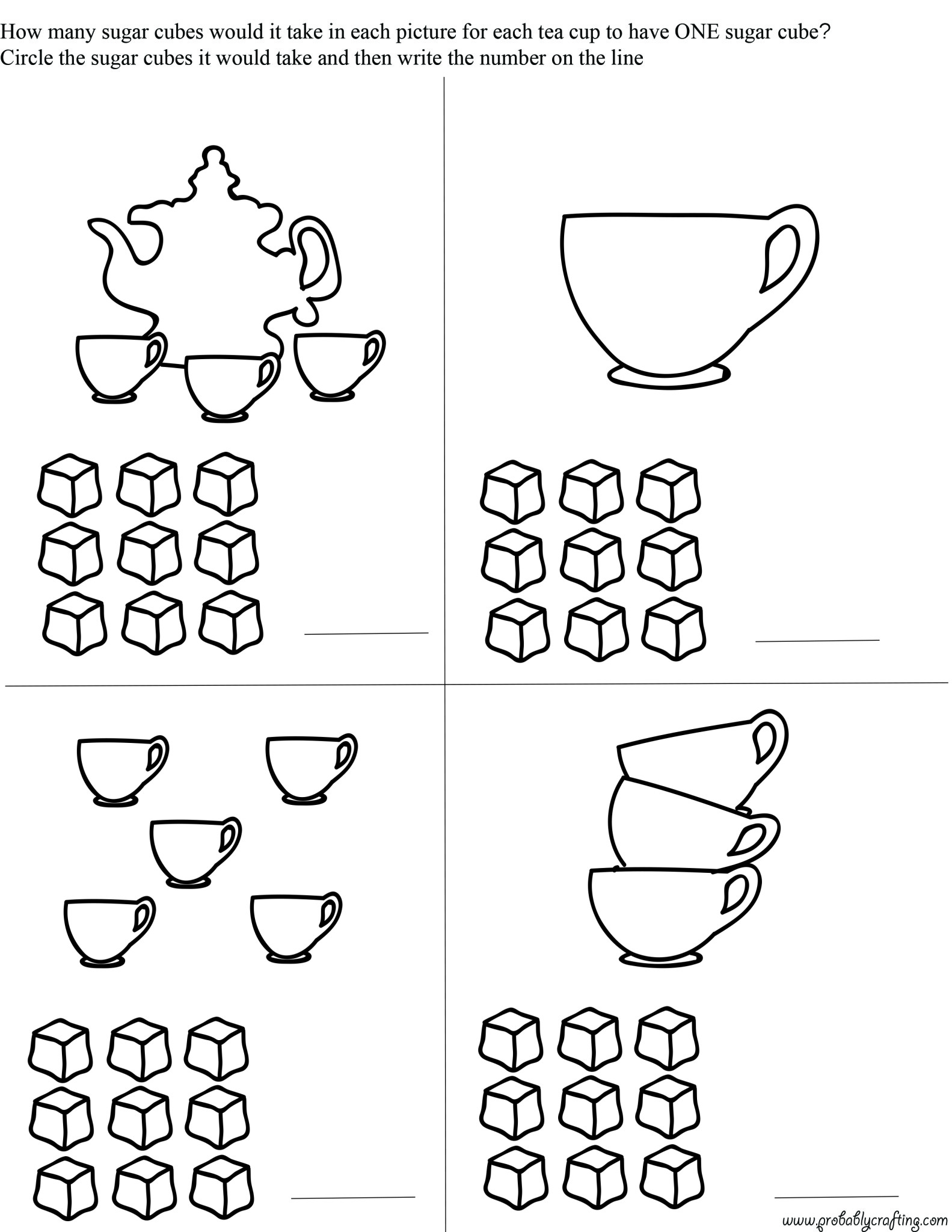 Tea Time Printables Free Preschool Tea Time Worksheets