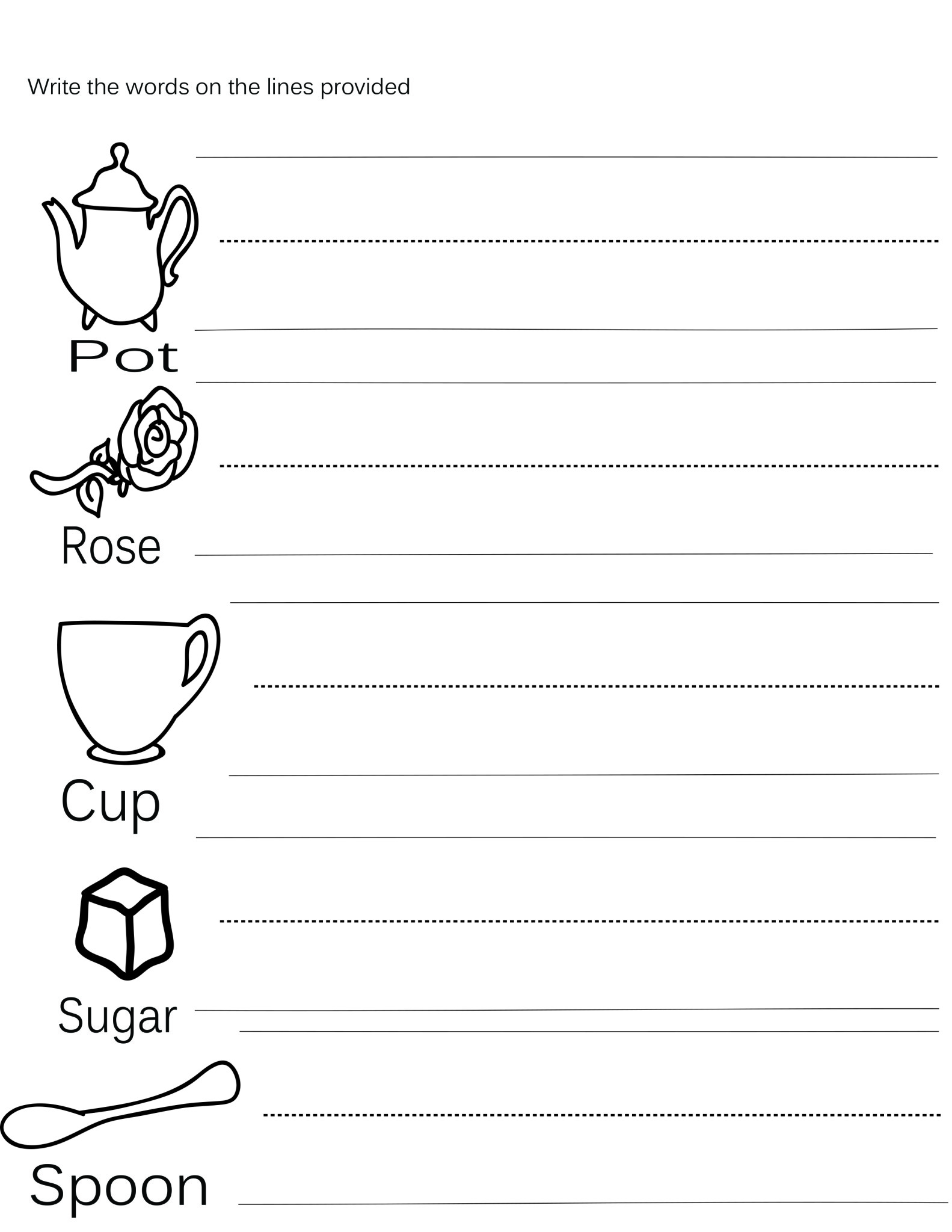 Tea Time Printables Free Preschool Tea Time Worksheets