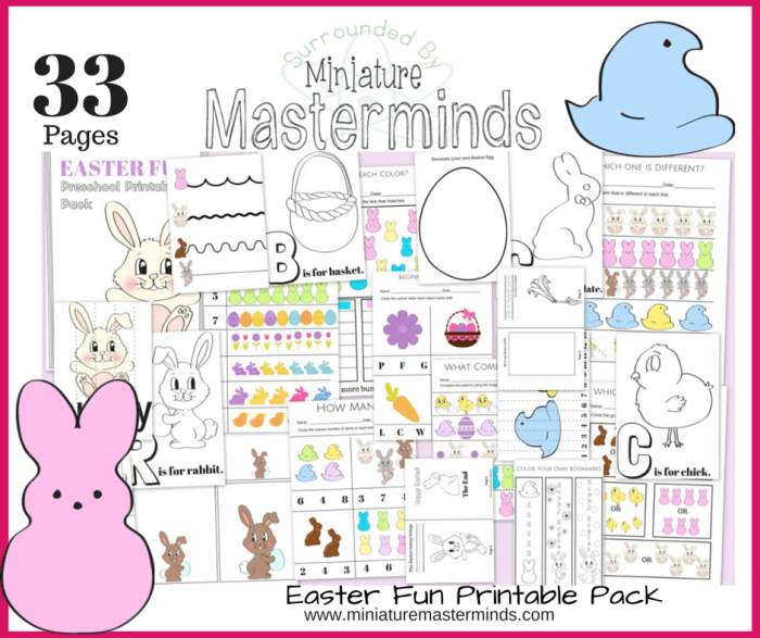 graphic regarding Toddler Printable Activities called 33 Web pages of Easter Enjoyable No cost Preschool and Infant Printable