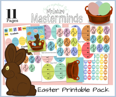 The Great Egg Hunt Activity and Play Dough Mat Educational Printable Pack