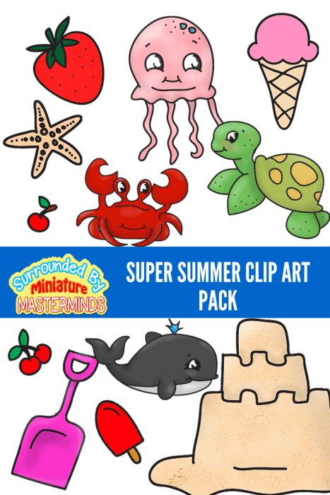 Free Clip Art Summer Fun : summer, Super, Summer, Images, Miniature, Masterminds