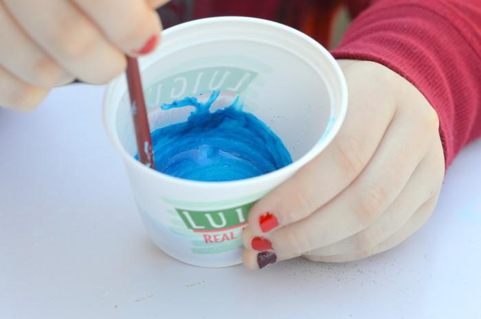 DIY Corn Syrup Glitter Splatter Paint Art