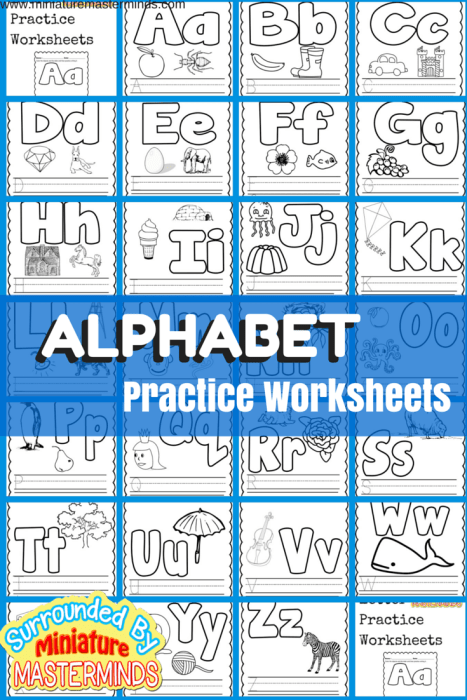 Free Printable Alphabet Practice worksheets