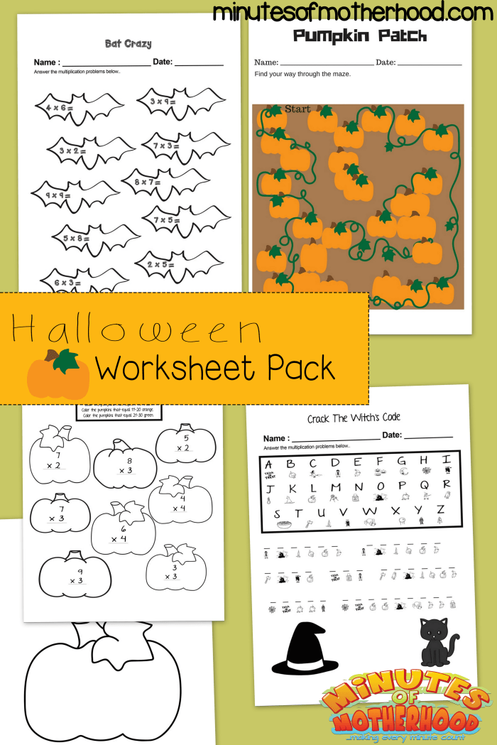 graphic regarding Free Printable Halloween Worksheets identify Cost-free Printable Halloween Multiplication Educate, Pumpkin