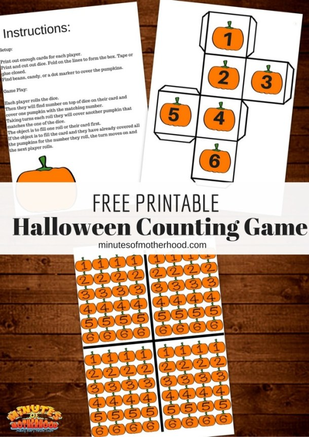 Free Printable Halloween Pumpkin Counting Game