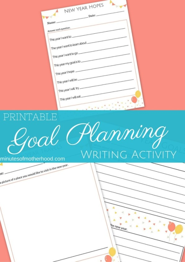 printable Goal Planning Writing Activity (1)
