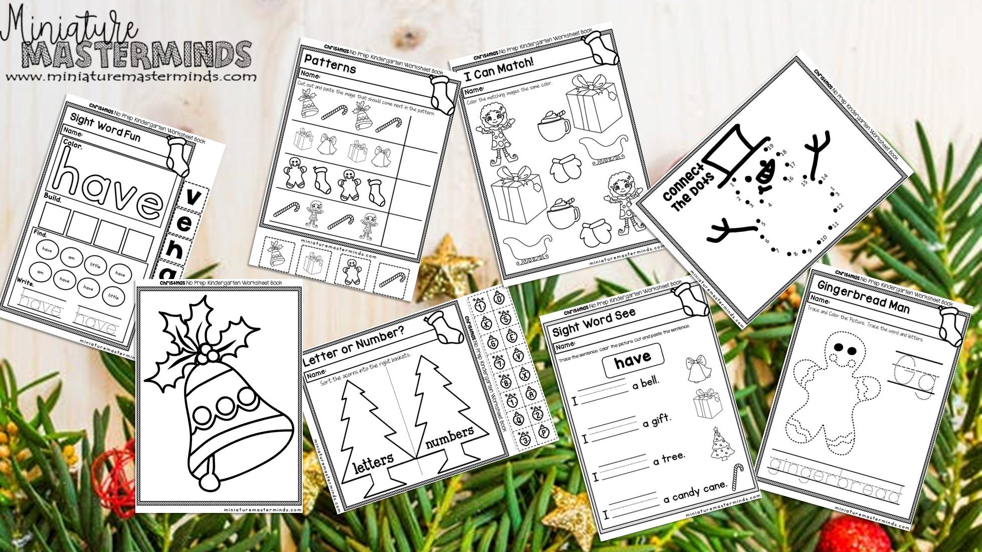 150 Page No Prep Kindergarten Worksheet Book Free Download
