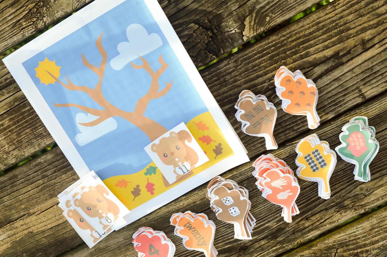 Fall Leaves Number Sense Preschool Kindergarten Prtinable