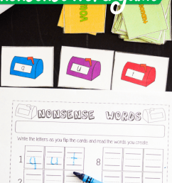 Free Printable Mailbox Nonsense Word Building Card Game For Kindergarten  and First Grade – Miniature Masterminds [ 1280 x 768 Pixel ]