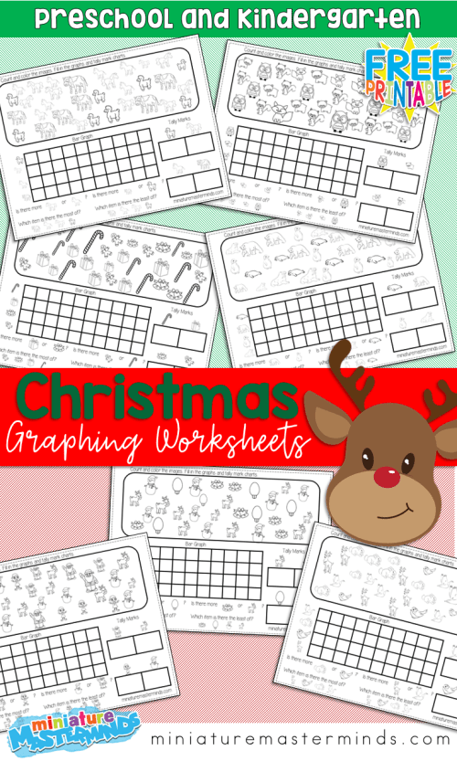small resolution of Free Printable Kindergarten and Preschool Christmas Graphing Worksheets –  Miniature Masterminds