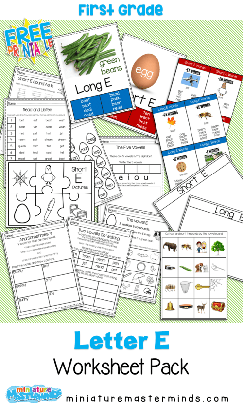 small resolution of Short and Long E Vowel Sound Practice Pack – Miniature Masterminds