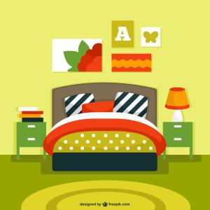 schlafzimmer bett minibar mini-kuehlschrank