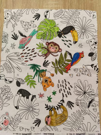 pochon colorié motif jungle