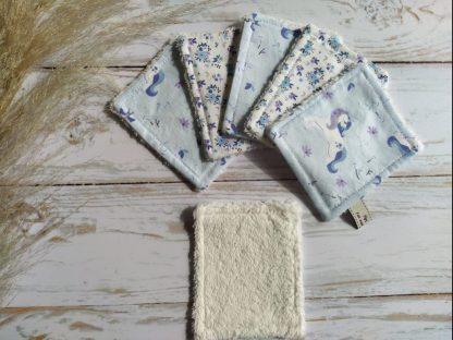 bebe-lingettes-lavables-bambou-coton-ecru-licornes-fleurs