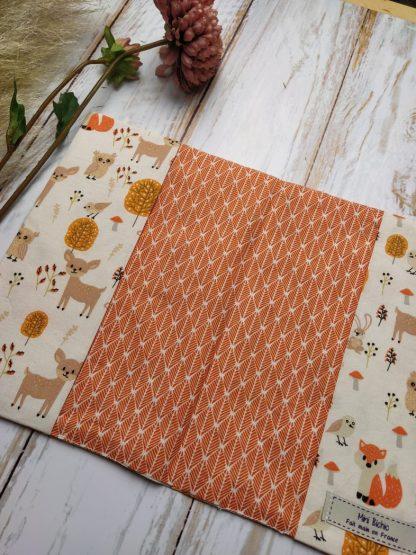 coton-renard-herisson-lapin-hibou-forêt-feuillage-orange