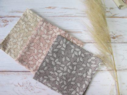 serviettes-table-coton-gris-rose-beige