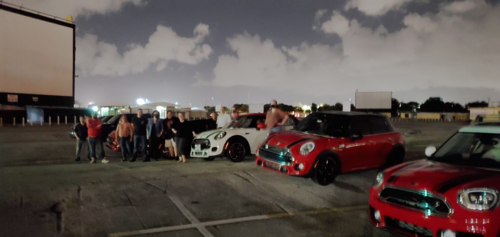 MINI Club of South Florida at the drive-in