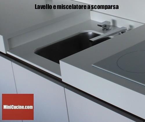 Cucine moderne e funzionali il blocco cucina con piano scorrevole MiniGlide  MiniCucinecom