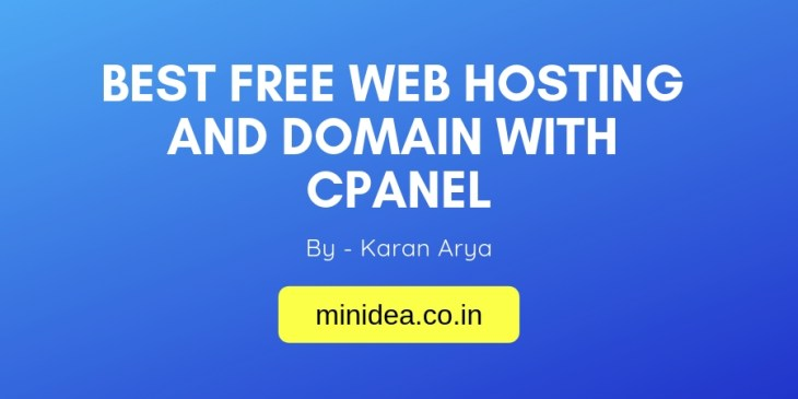 Best Free Web Hosting And Domain With CPanel
