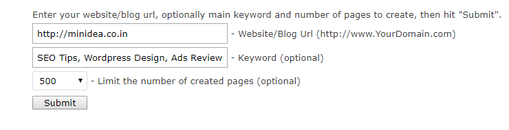 IMT website submitter tool
