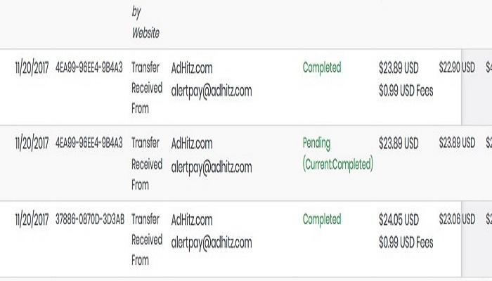 adhitz payment proof
