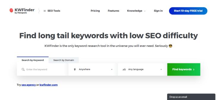 kwfinder keyword research tools