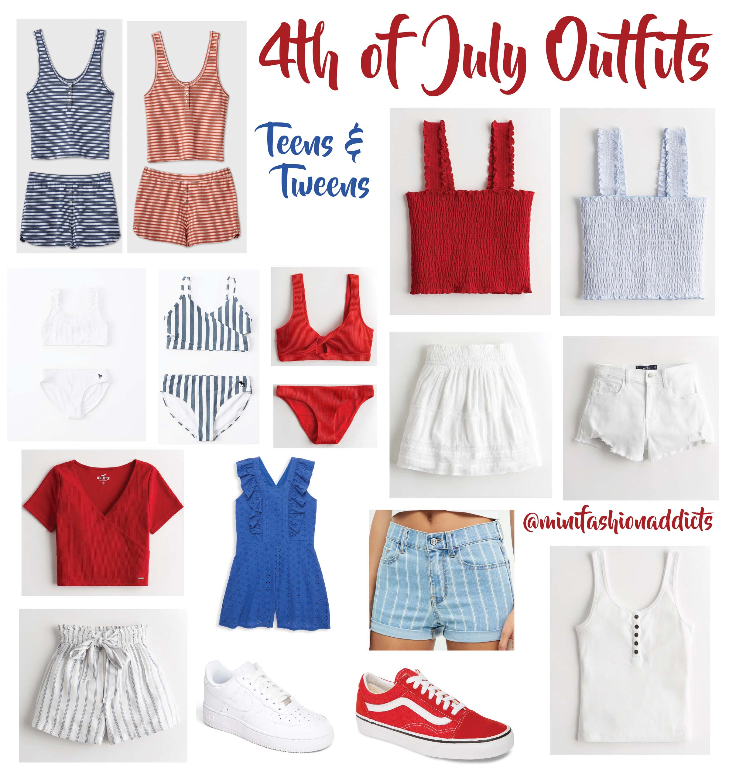 4th of July Outfits Teens & Tweens