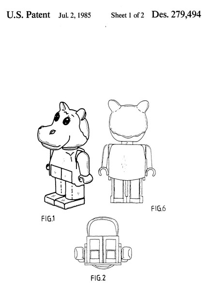 Lego Patents filed by Godtfred K. Christiansen and Jens N