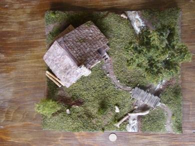 diorama coliba lemn