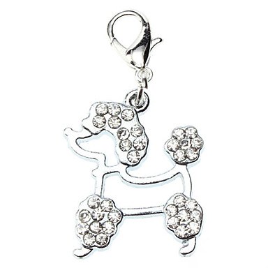 Dog tags Rhinestone Decorated Poodles Style Collar Charm