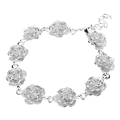 Flower Sterling Silver Plating Bracelet Christmas Gifts