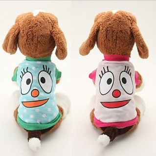 [USD $ 4.99]  - Lovely Cotton Big Eyes Pattern Pet T-shirt for Pet Dogs (Multicolor Assorted Sizes)