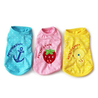 [USD $ 8.09]  - Pet Fashion Cute Leisure Embroidered Vest for Pets Dogs (Assorted Colors,Sizes)