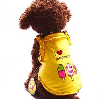 [USD $ 10.49]  - Pink/Yellow Cosplay Cotton T-Shirt For Dogs(Assorted Color)