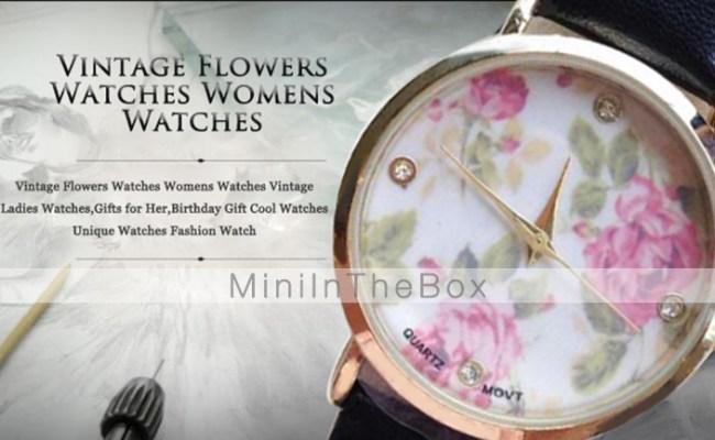 Vintage Flowers Watches Women S Strap Watches Vintage