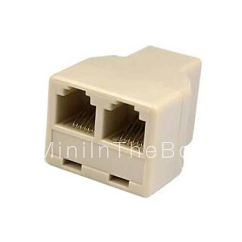 Way Splitter Connector Adaptor Phone Line Connector Extension Rj11