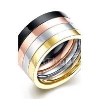 lureme Stainless Steel Finger Rings for Teen Girls 4 Pcs ...