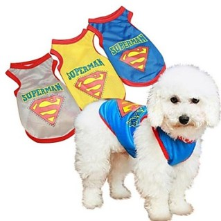 [USD $ 9.99]  - Blue/Yellow/Gray Cosplay Cotton T-Shirt For Dogs