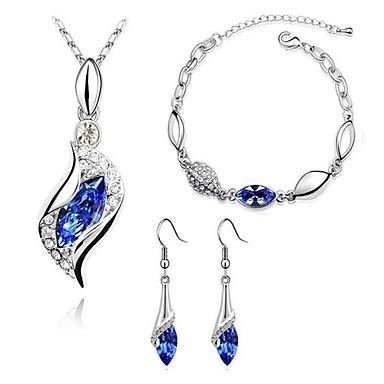 Jewelry Set Drop Earrings Pendant Necklaces Bracelet