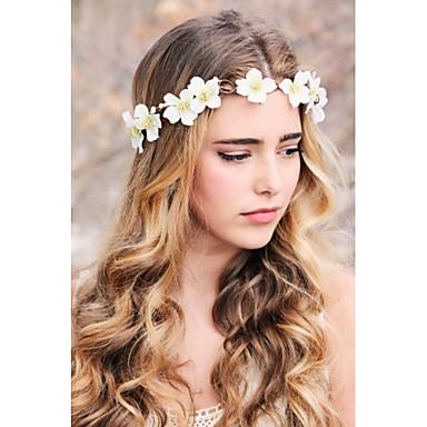 bridal flower wreath woodland halo wedding flower crown bridal head piece rustic hair band