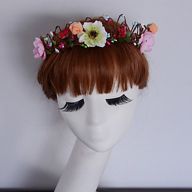 wedding flower crown white floral wreath wedding headpiece headband head wreath hair