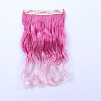 Two Tone Gradient Hair Colored Ombre Hair Extensions Clip ...