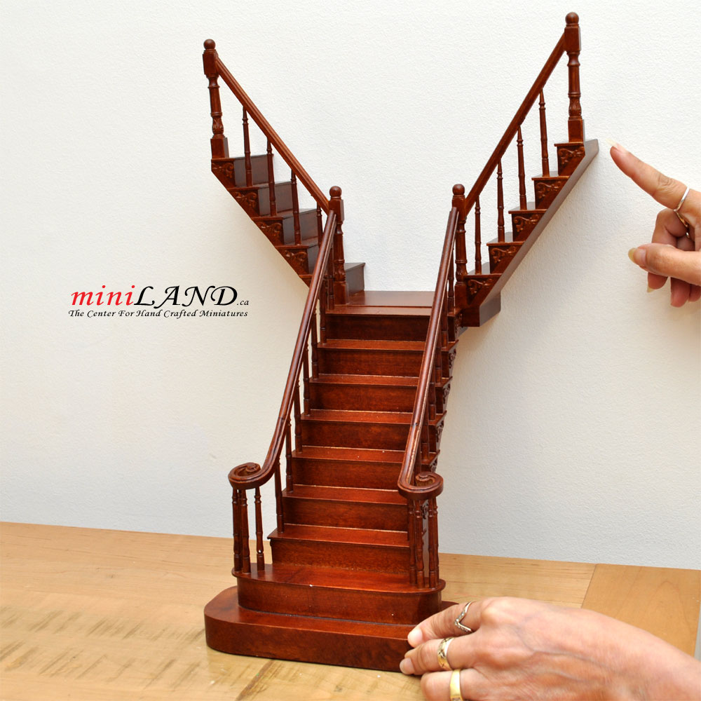 Quality Y Staircase 112 Scale Miniature Wooden Dollhouse
