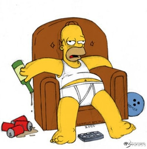 homer_simpson_on_a_chair_by_HamJava