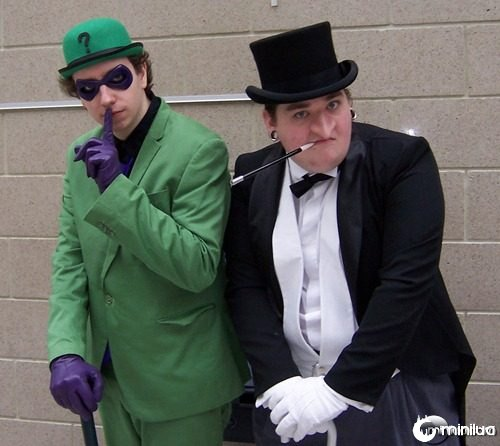 riddler and penguin cosplay
